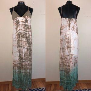 Gypsy 05 Silk Tie-Dye Maxi Dress